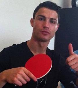 Криштиано Роналдо хорош в пинг-понге!